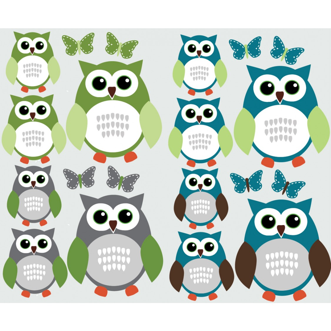 blue and grey owl wall stickers with butterfly decals for walls blue and grey owl wall stickers with butterfly wall stickers for kids rooms for boys