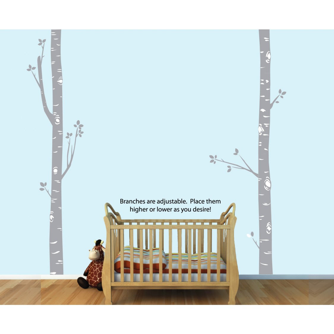 Birch Tree Wall Stickers and Tree Wall Decor For Girls
