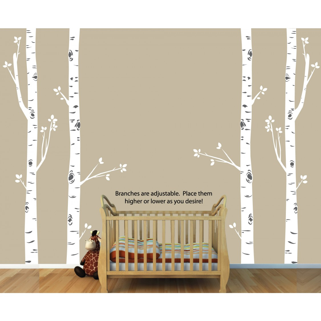 Birch Decals And Large Tree Wall Decals For Nurseries