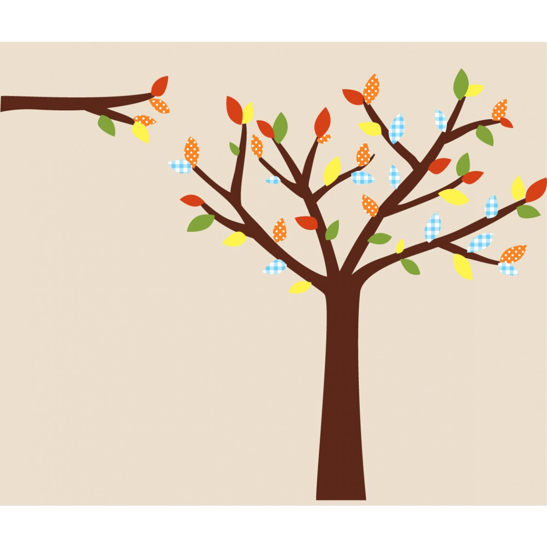Colorful Wall Decals Trees For Play Rooms