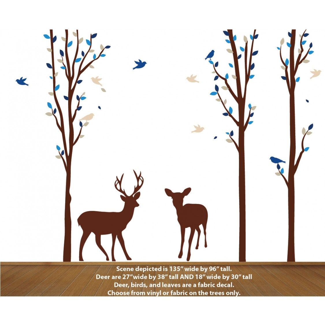 Deer in Forest Wall Decal