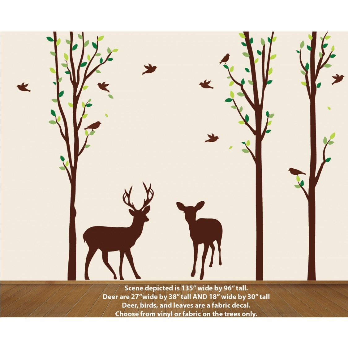 Green Forest  Wall Decals