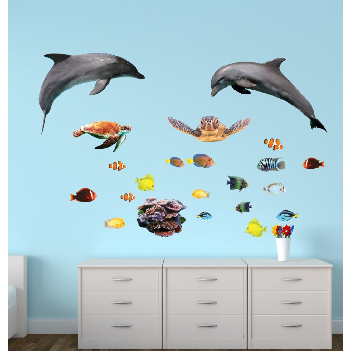 Giant Wall Stickers With Sharks Sticker For Kids