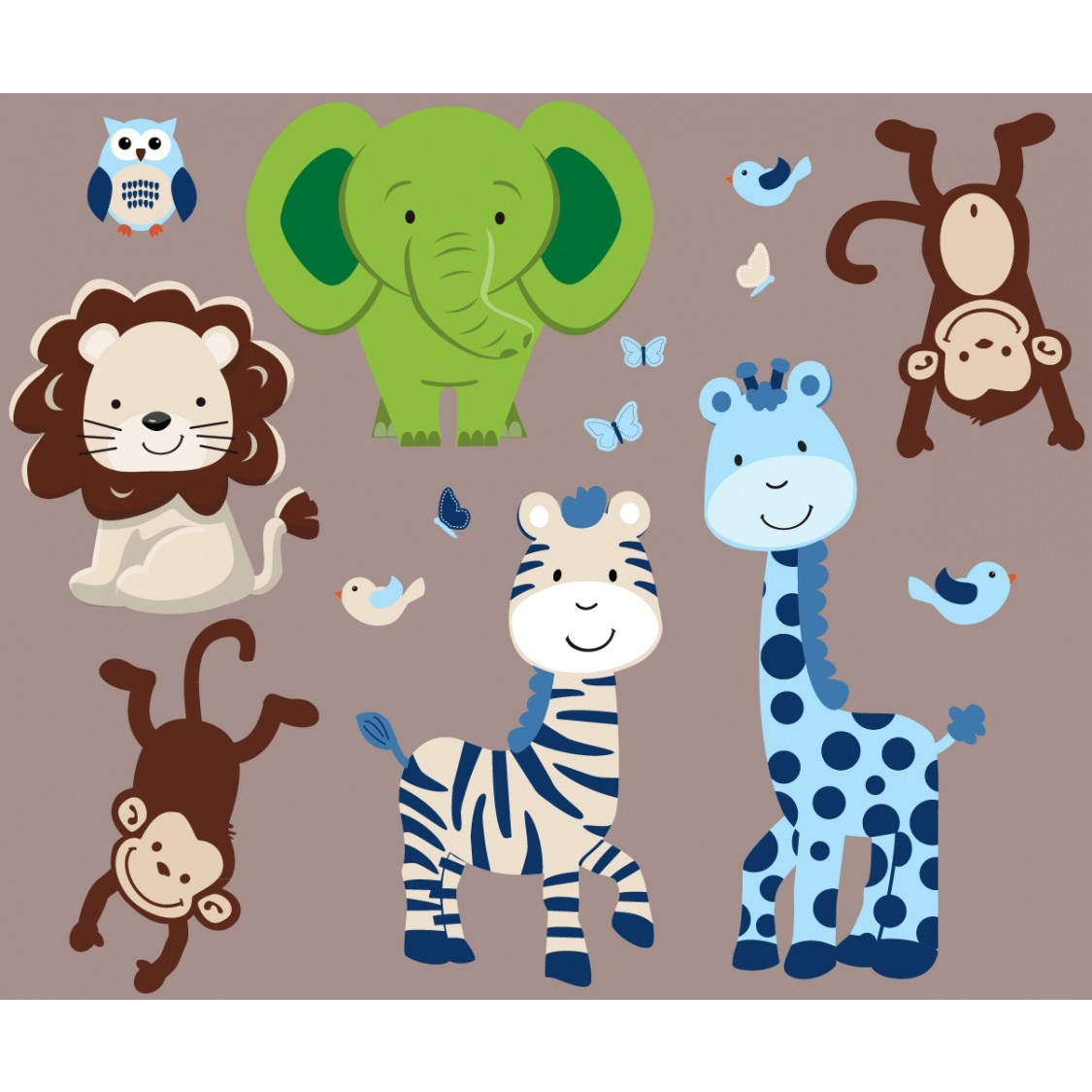 Green Jungle Murals For Kids Rooms For Kids