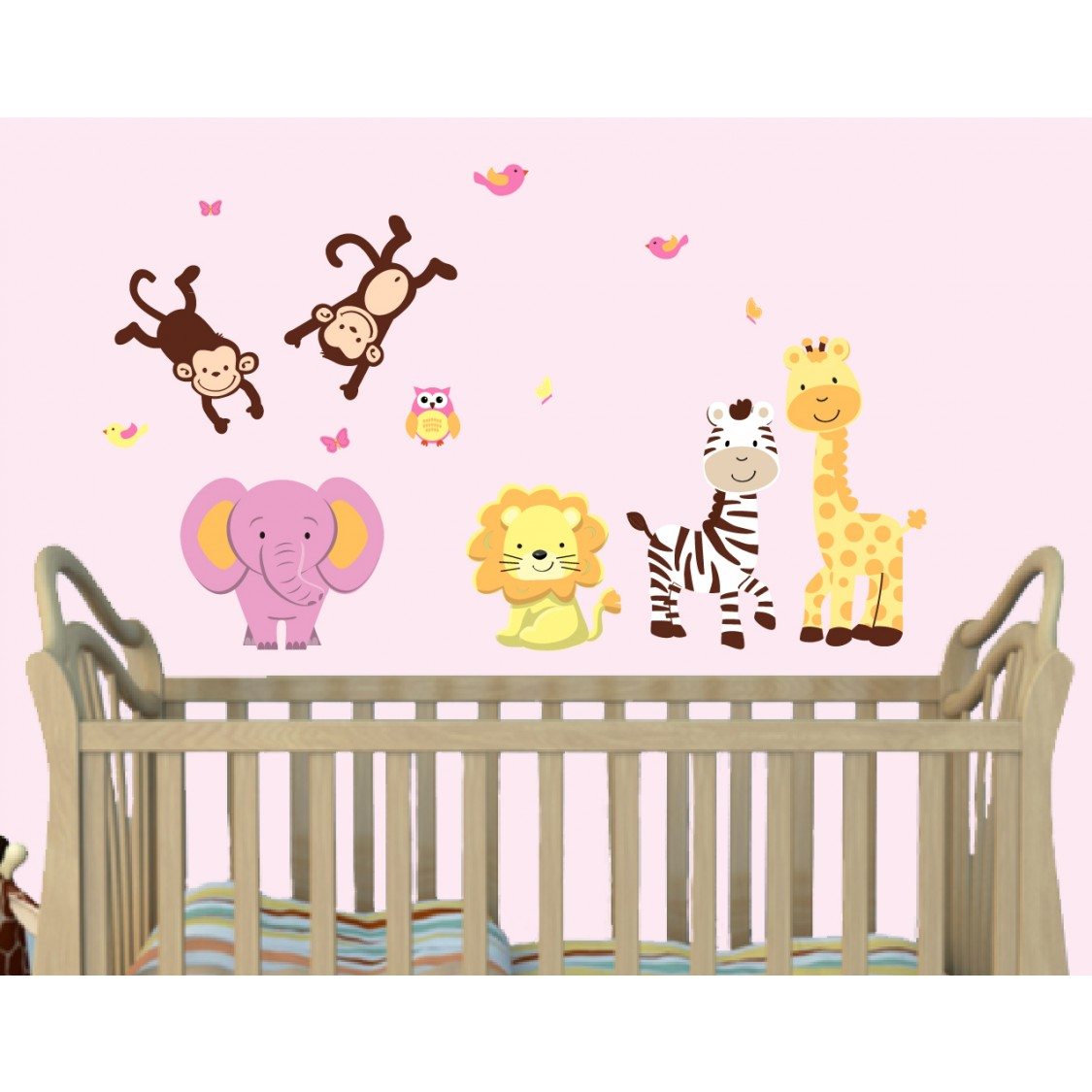 Jungle Wall Stickers For Nursery With Giraffe Wall Stickers For Kids