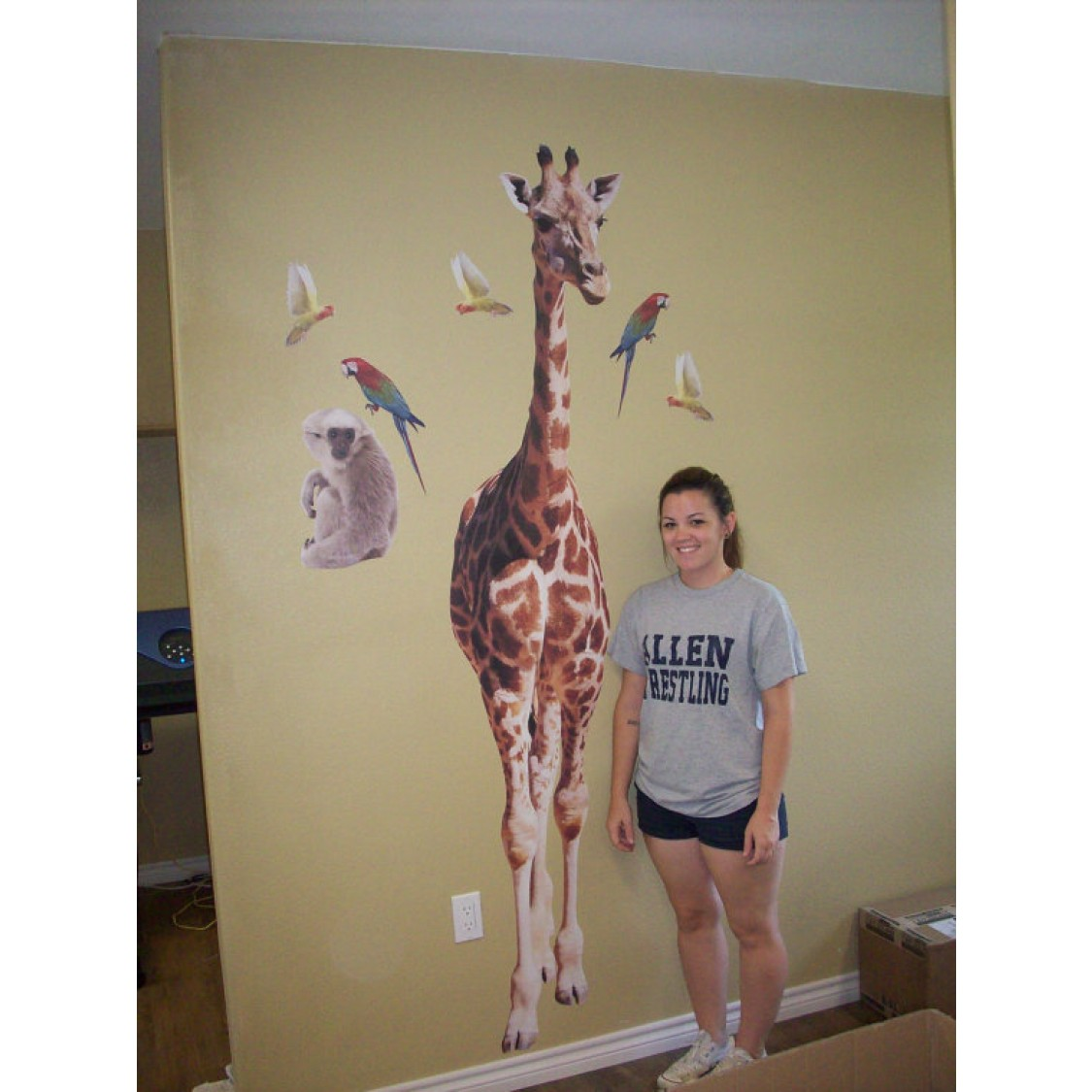 Giraffe Wall Art For Kids Rooms