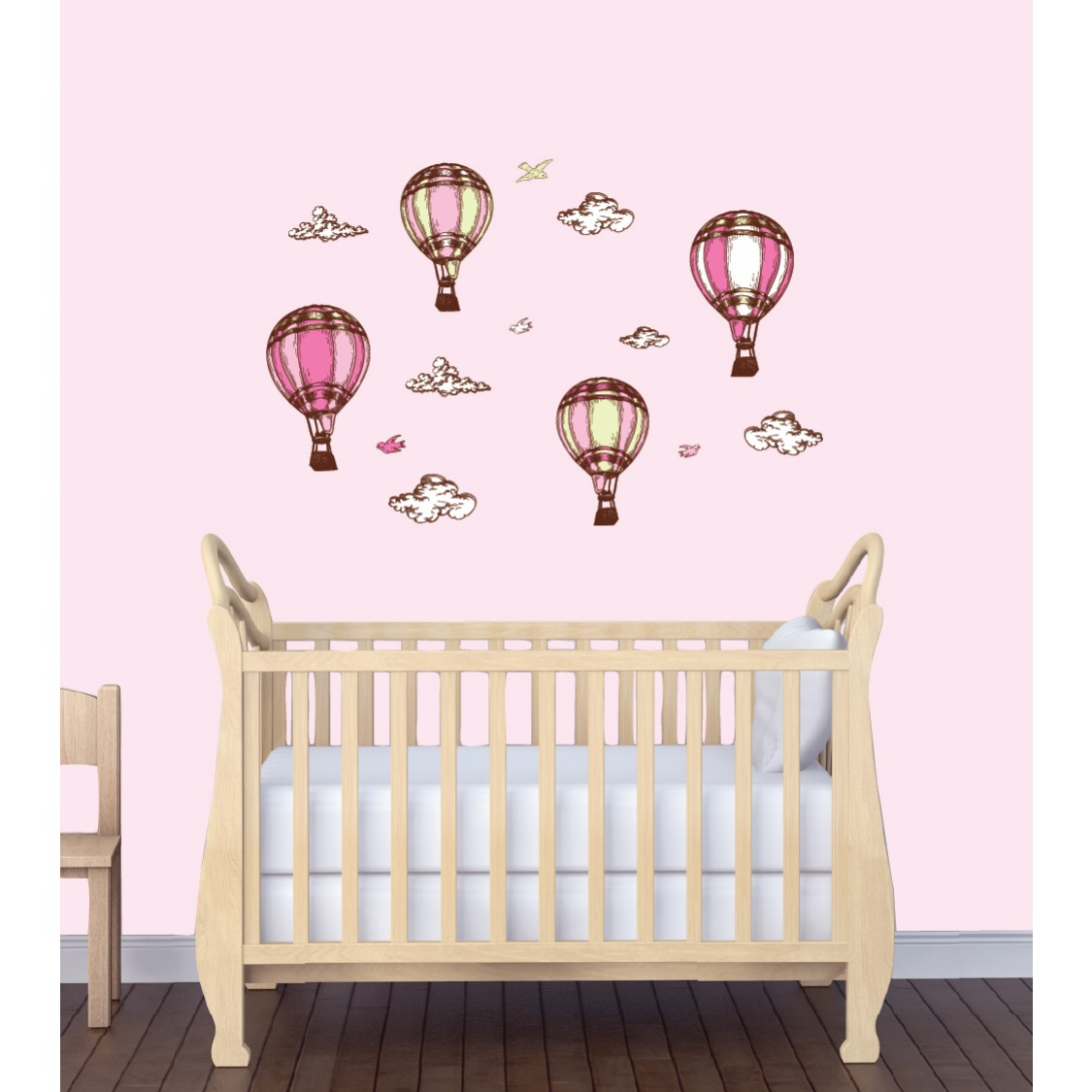Large Wall Decal With Hot Air Balloon Wall Decor For Kids