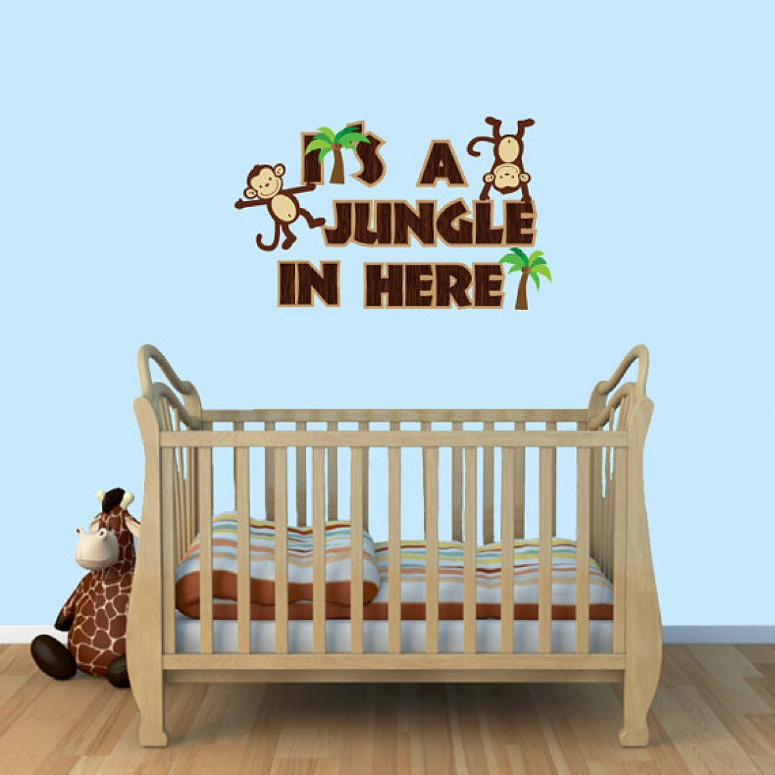 It's a Jungle in Here Cheap Wall Decals For Kids Rooms