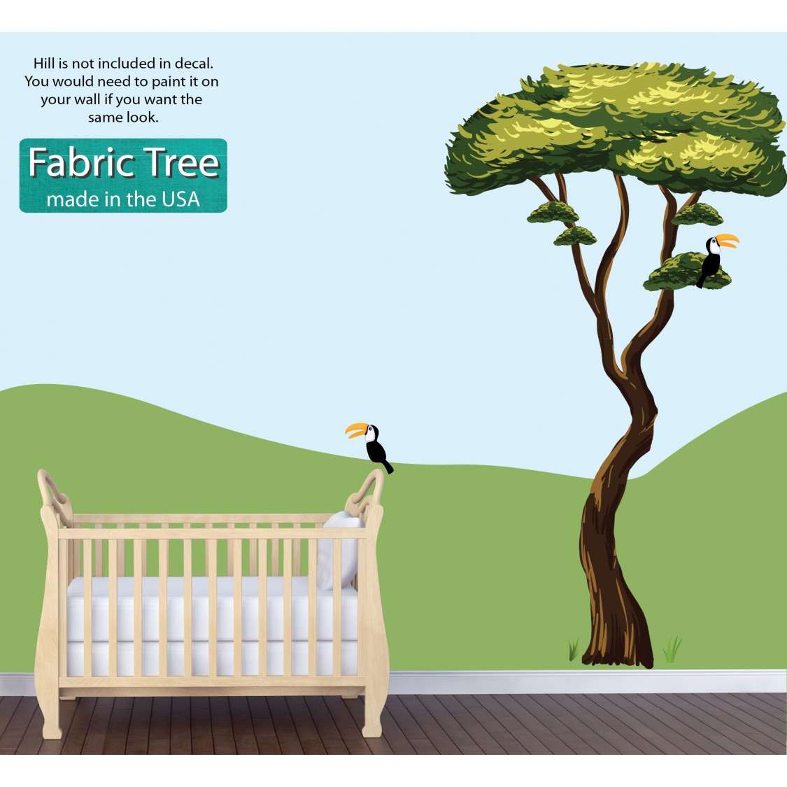 reusable wall stickers with jungle tree sticker for children. Black Bedroom Furniture Sets. Home Design Ideas