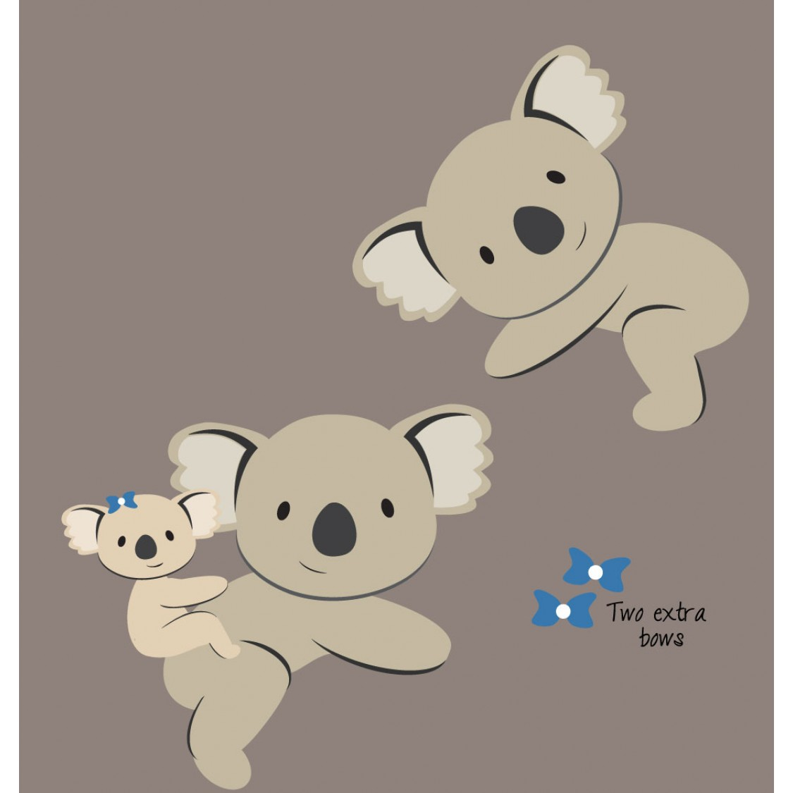 Koala Bear Animal Wall Decals For Play Rooms