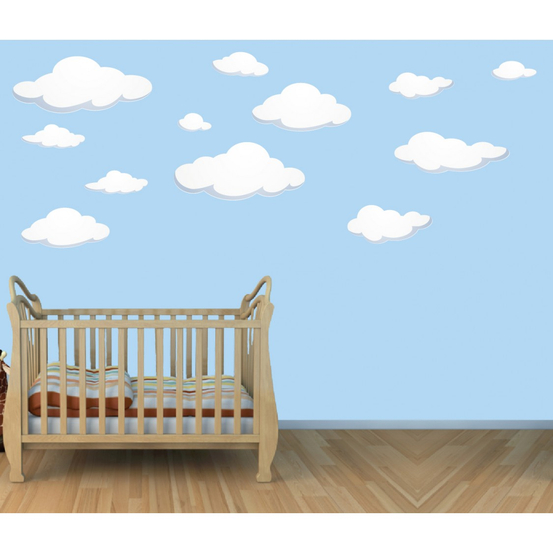 Large Wall Decal of Cloud Wall Murals For Play Rooms