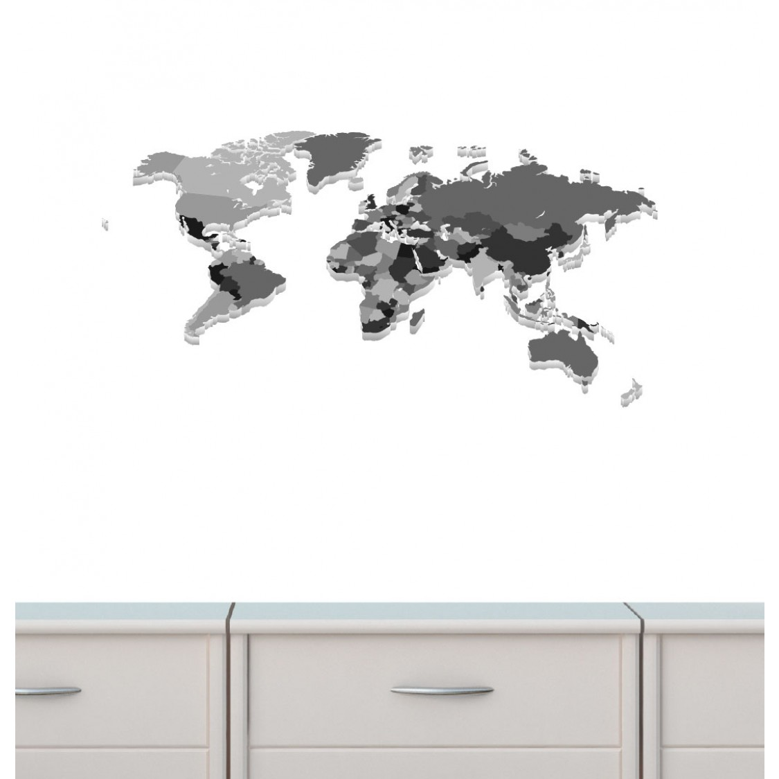 Colorful Large Wall Decals With World Map Wall Stickers For Kids Rooms