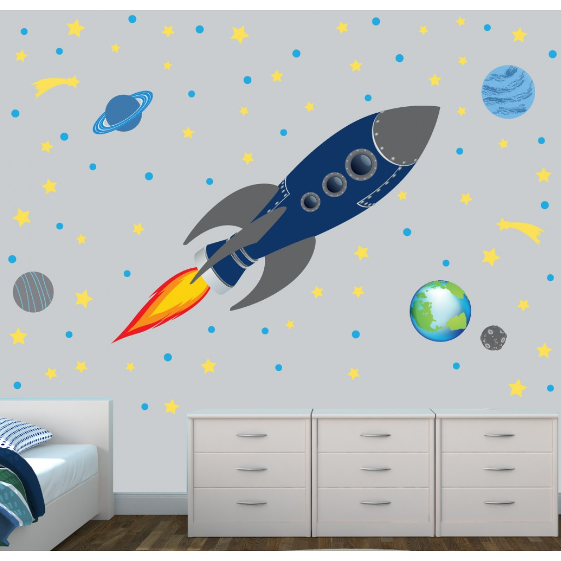 Rocket Wall Stickers Part 17