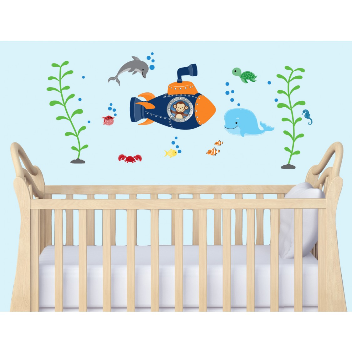 Peel And Stick Wall Murals & Nautical Wall Art For Nursery Room