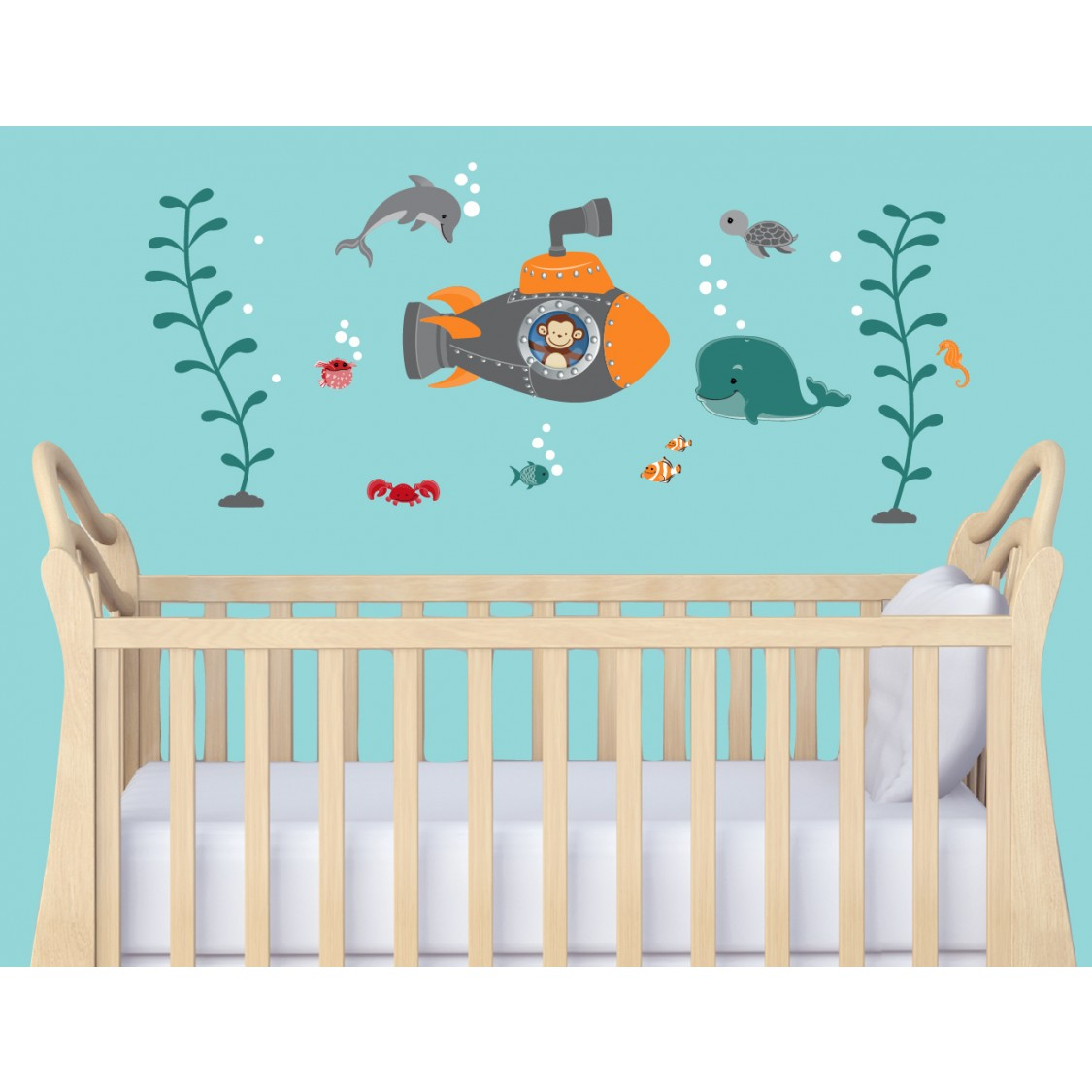 Underwater Murals Ocean Wall Decals  Nautical Decals For Kids - Baby room decals