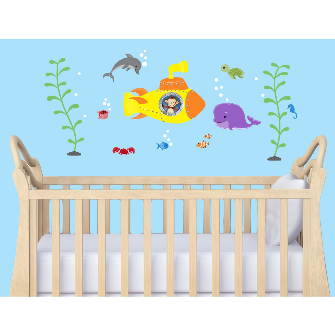 Peel And Stick Wall Decor With Sea Decals For Kids Rooms