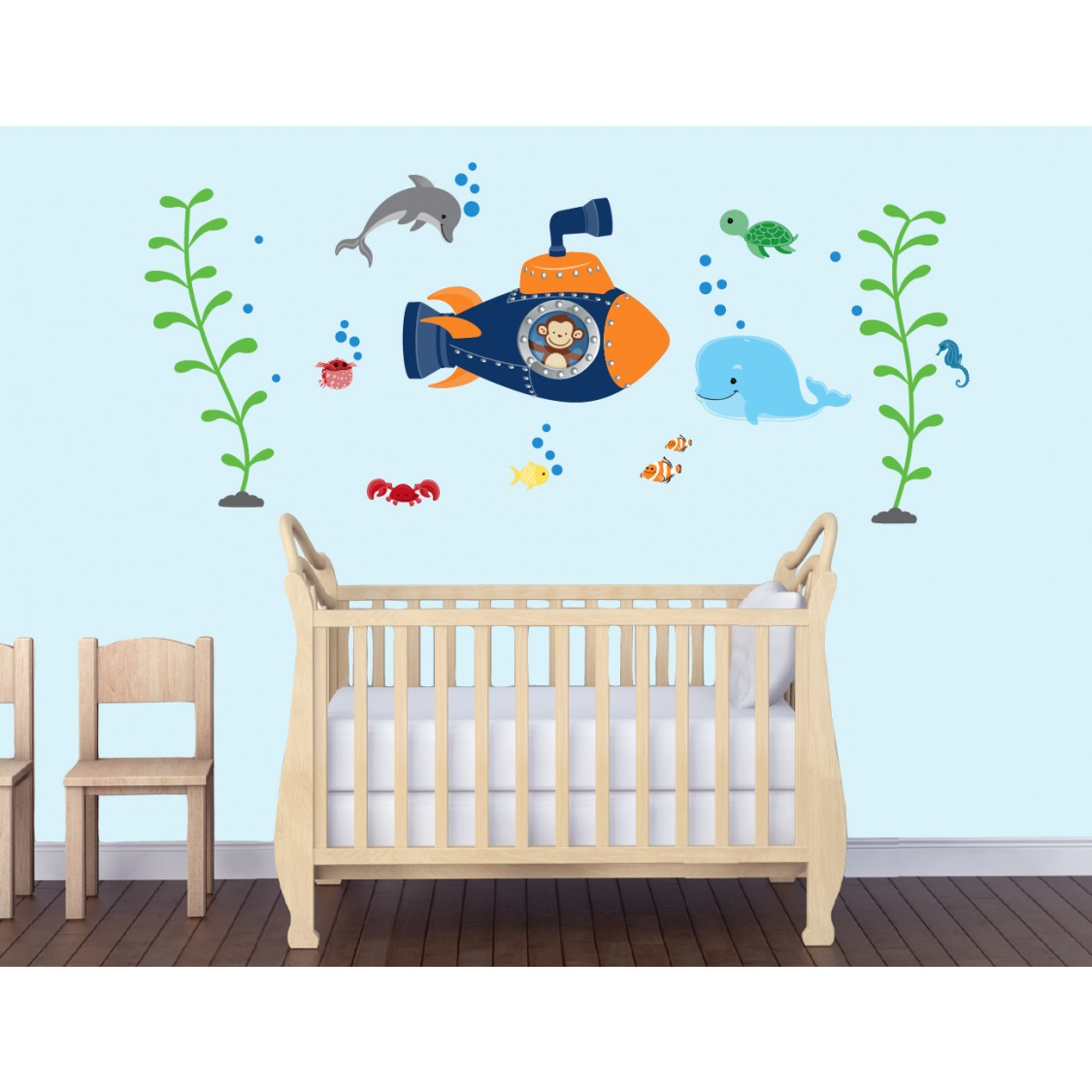 Ocean Wall Decals with Navy Submarine Wall Stickers