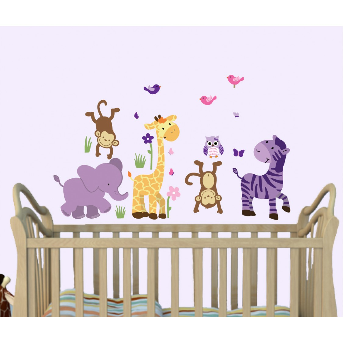 Purple Stickers Jungle For Girls Rooms
