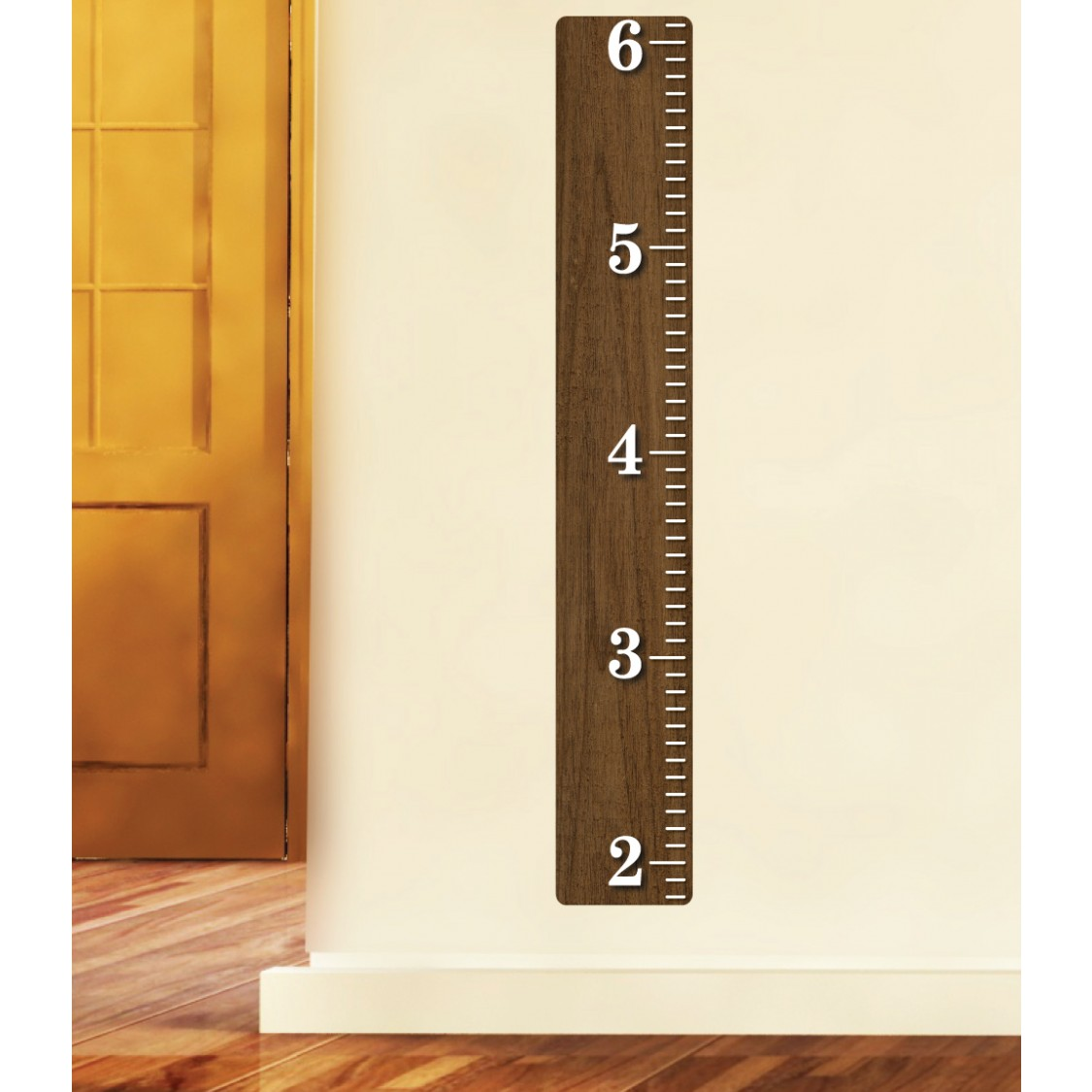 Wood Ruler Growth Chart For Kids Rooms