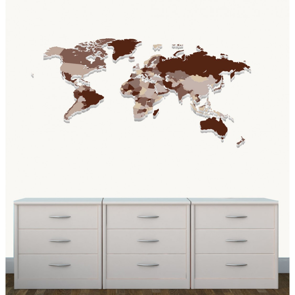 Children's Bedroom Wall Stickers With World Map Wall Stickers For Kids