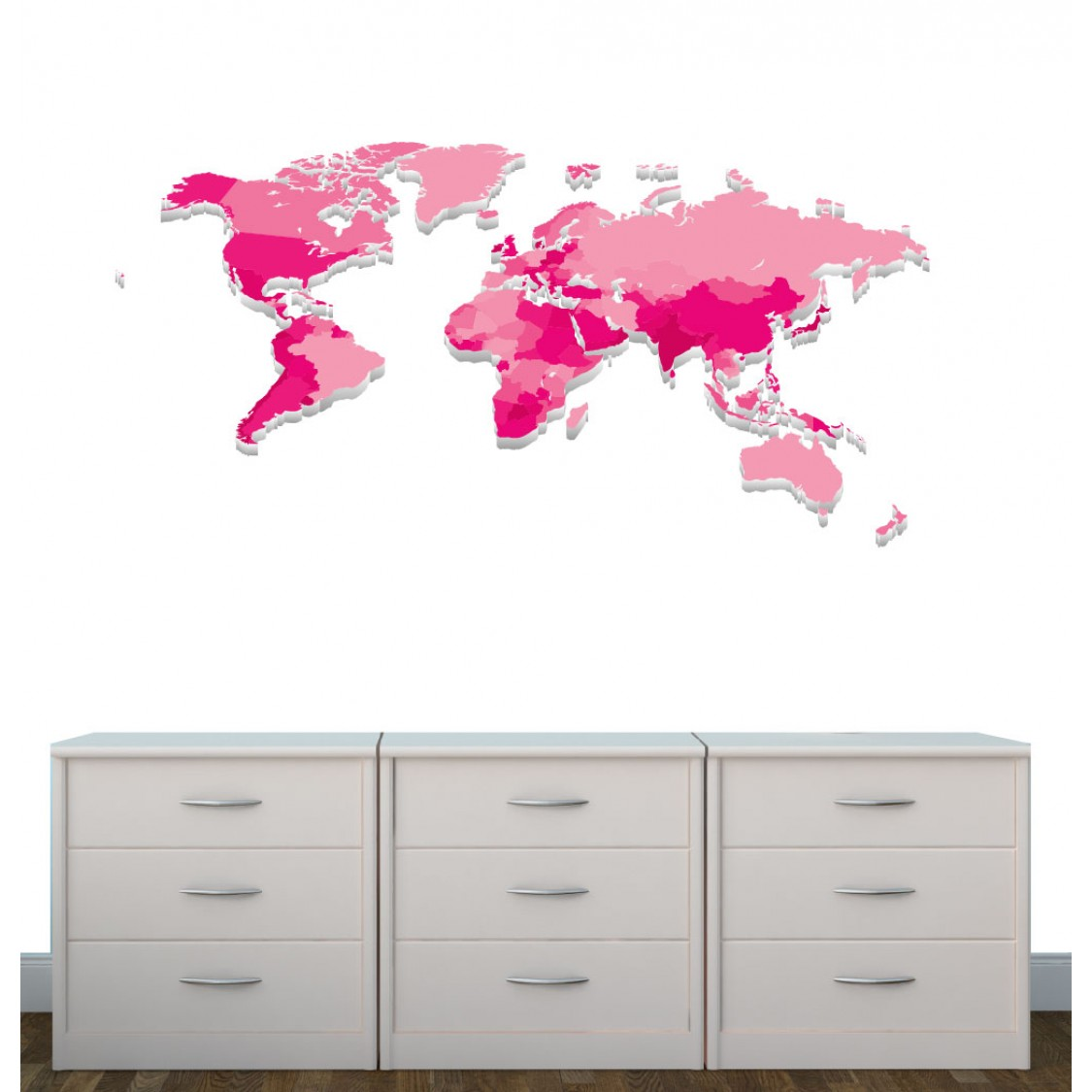map wall decals are great for any kids room realistic wall stickers for kids bedrooms world map decals for children