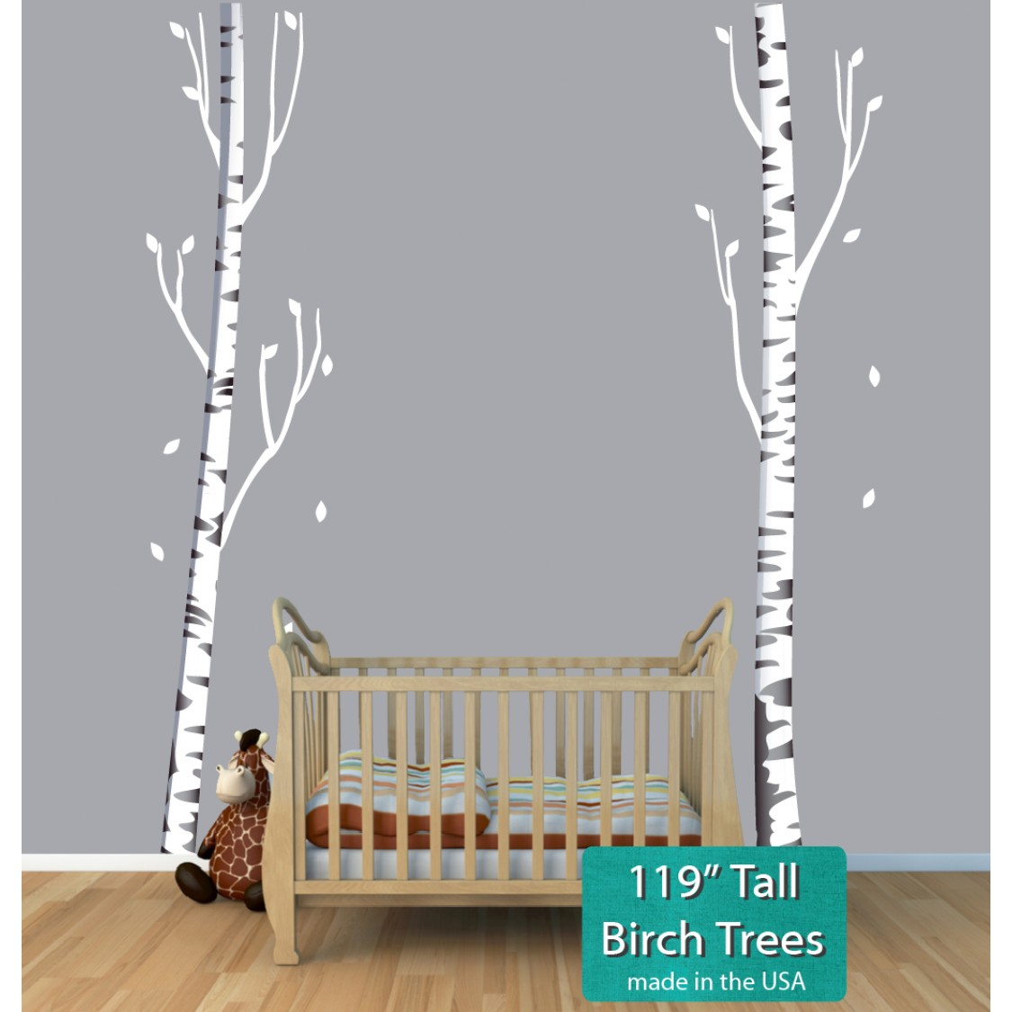 Tree Wall Decal and Birch Tree Decals For Children