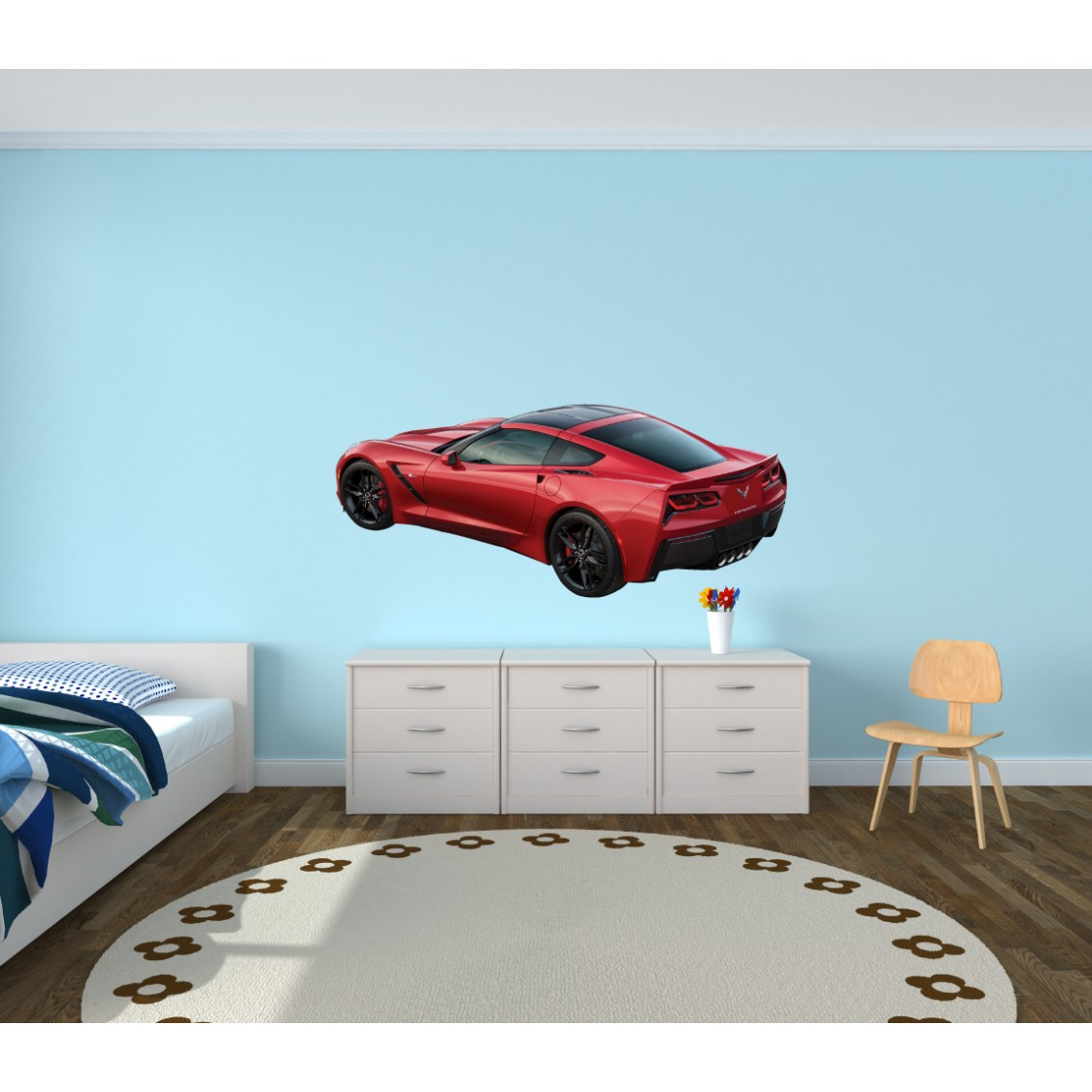 Peel And Stick Wall Decor With Car Wall Art For Children