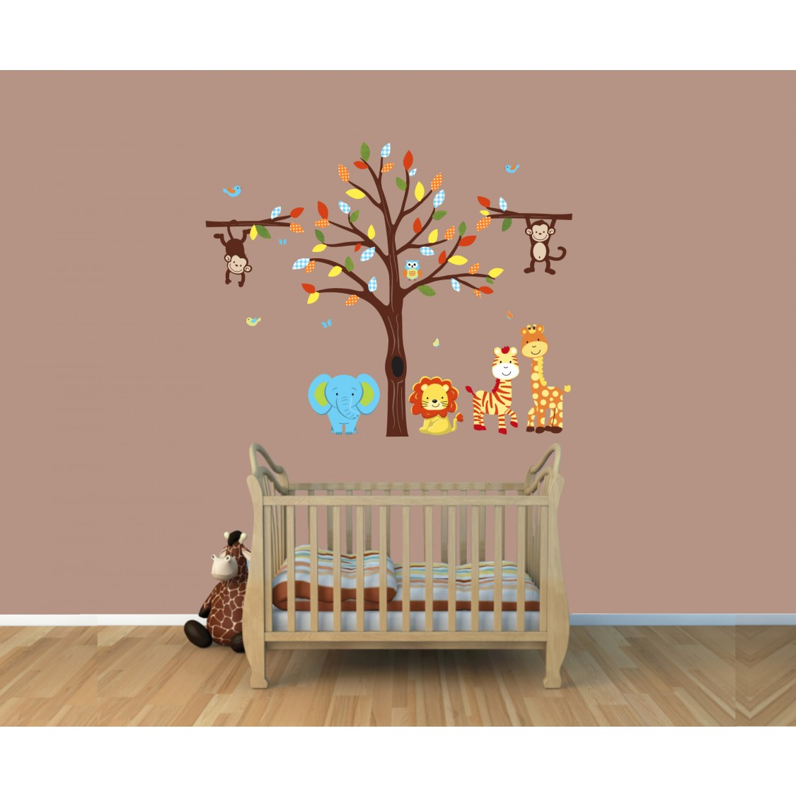 Safari Wall Art jungle,safari wall art with monkey sticker for play rooms