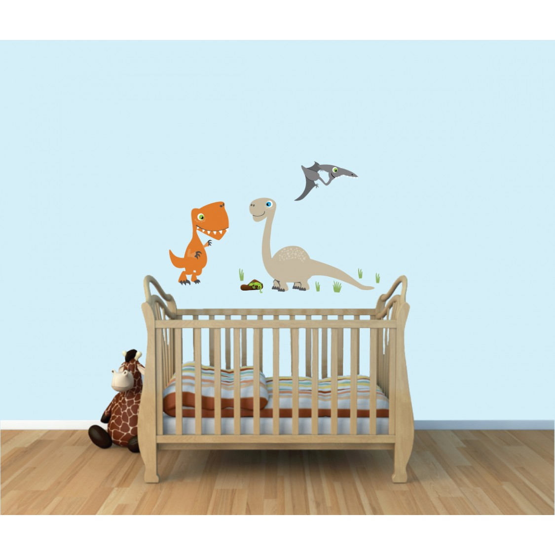 Kids Removable Wall Decals With Dinosaur Wall Murals For Kids Rooms
