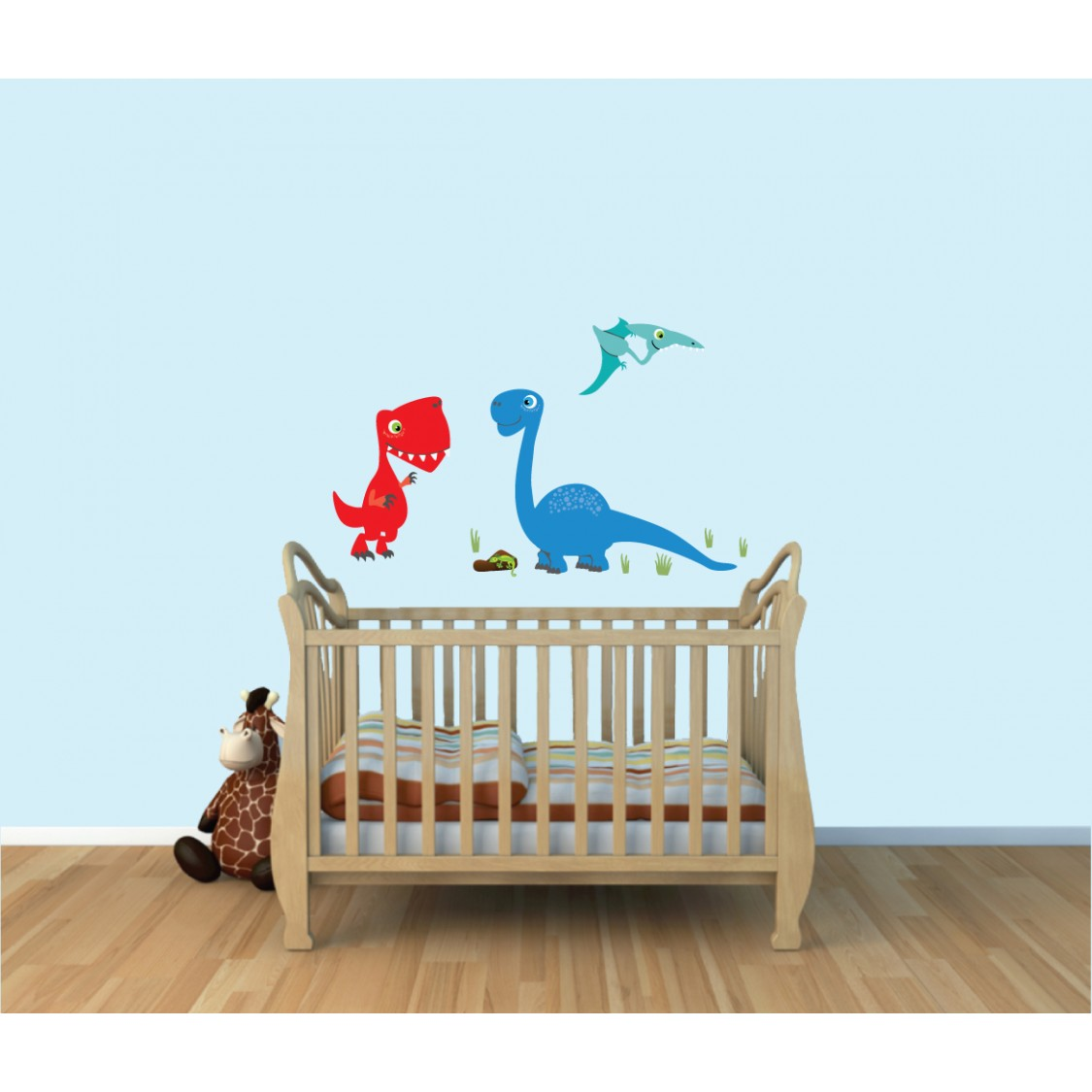 Colorful Removable Wall Decals Nursery & Dinosaur Wall Sticker
