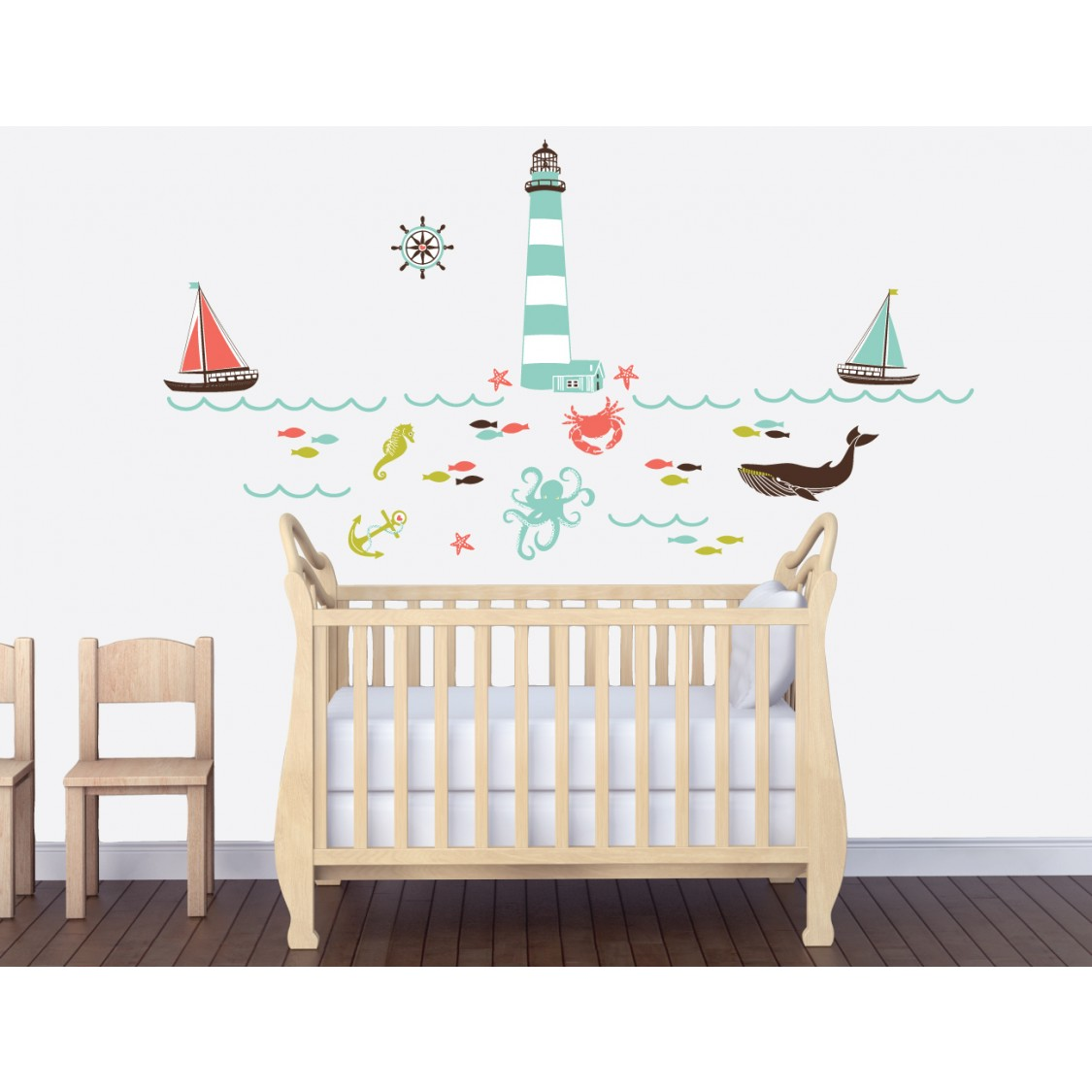 Wall Decals For Bedrooms With Marine Decals For Nursery or Baby Room