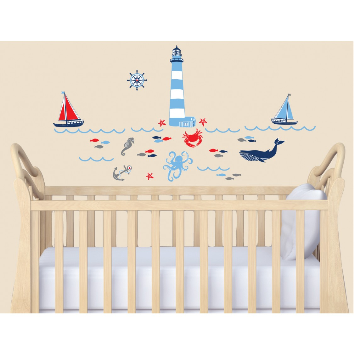 Peel And Stick Wall Decals Sea Life Wall Decals For Nursery Room