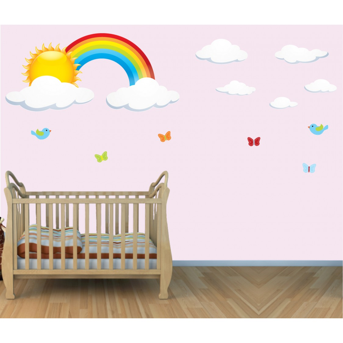 large rainbow stickers for kids playroom