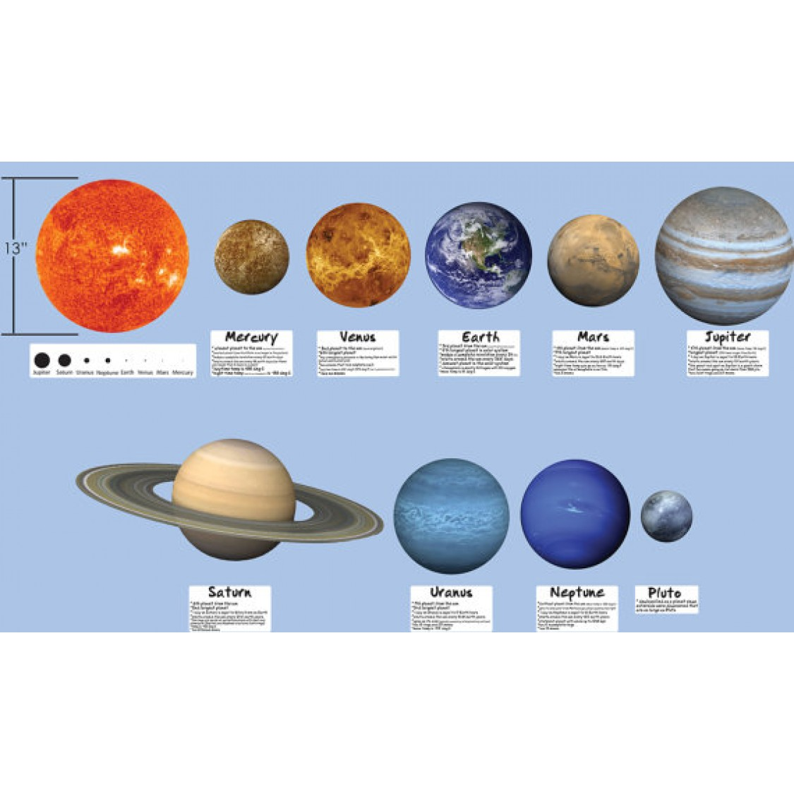 Large Solar System And Space Wall Decals For Boys Bedrooms Part 83