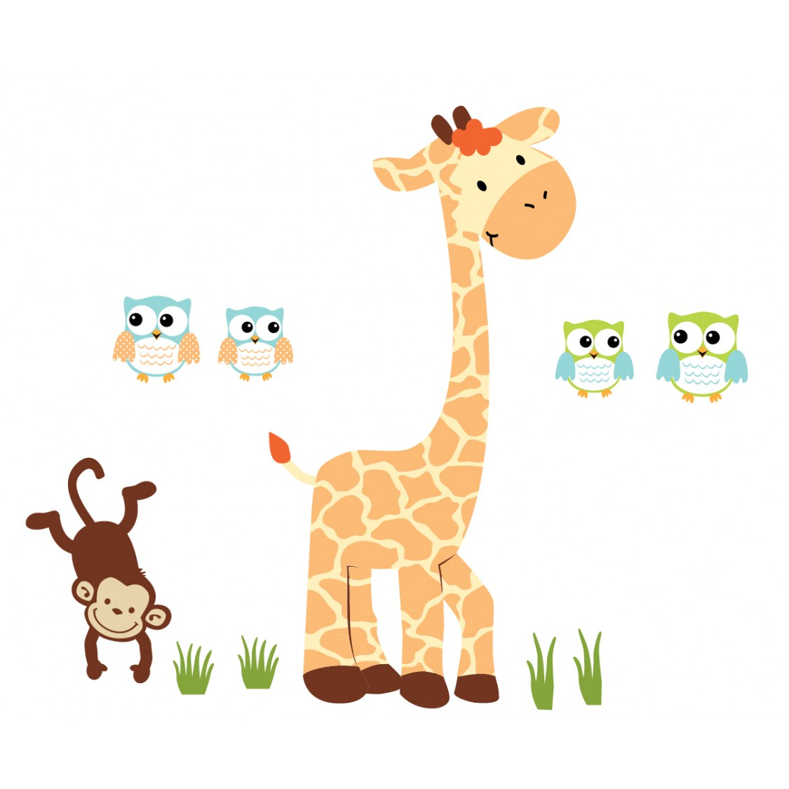 Elegant Giant Giraffe Wall Decor For Play Rooms