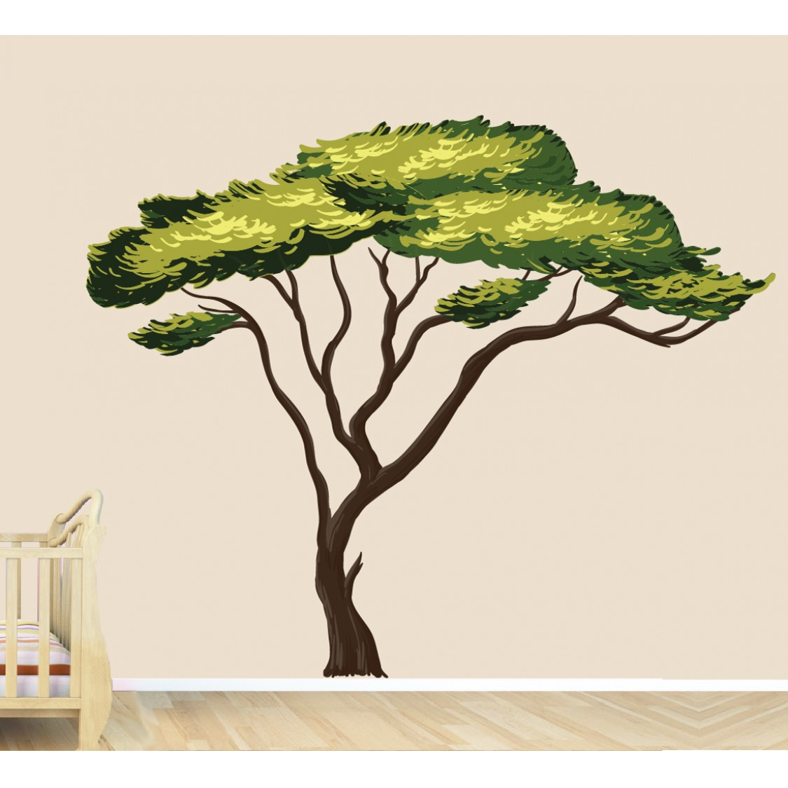African Large Tree Decal For Children