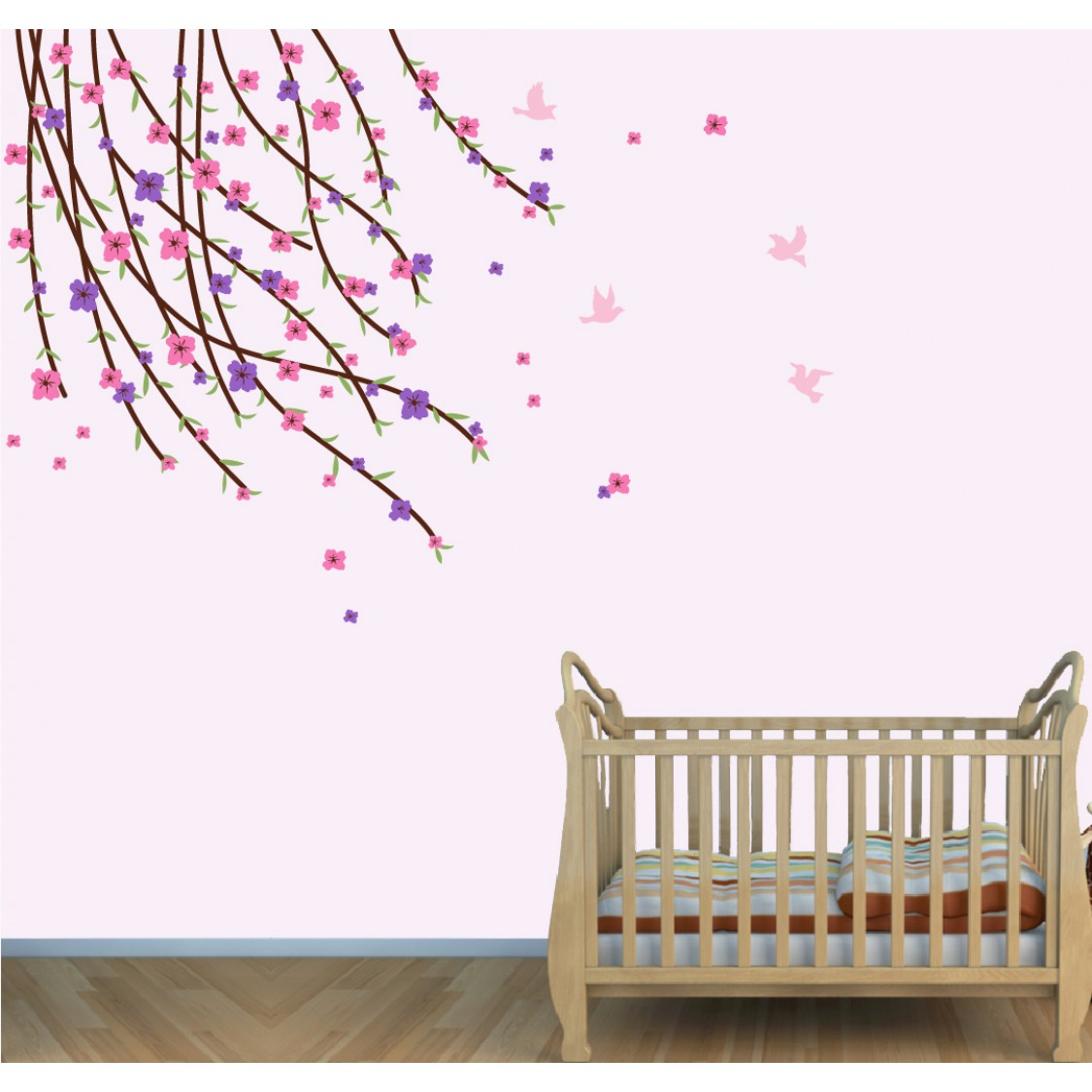Flowering Branch Wall Decals For Boys Bedrooms