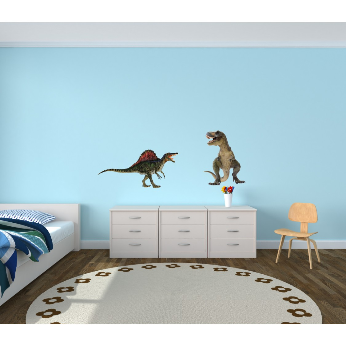 Childrens Bedroom Wall Stickers & Dinosaur Wall Decor For Kids Rooms