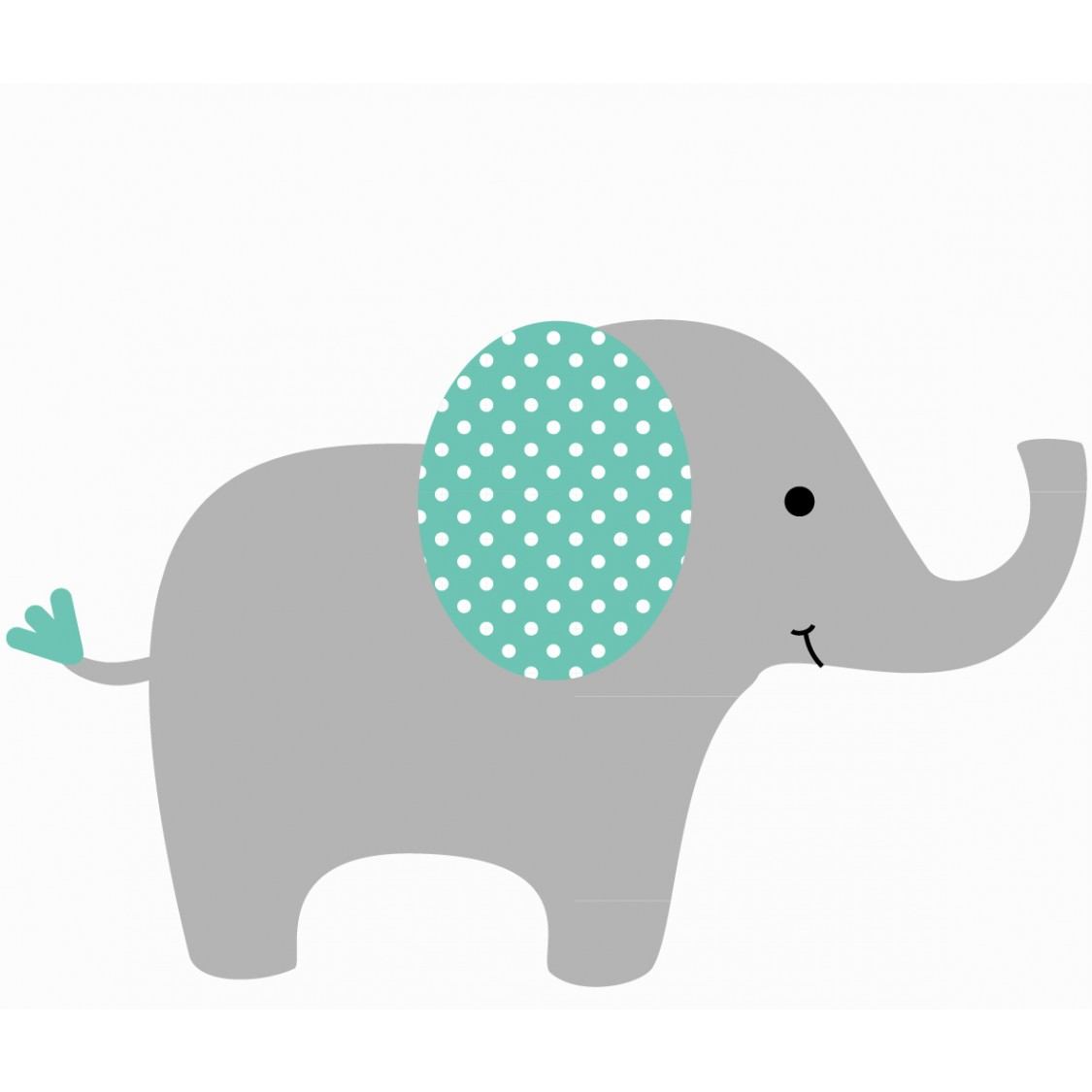 Customizable Elephant Wall Decal For Nursery Or Baby Room