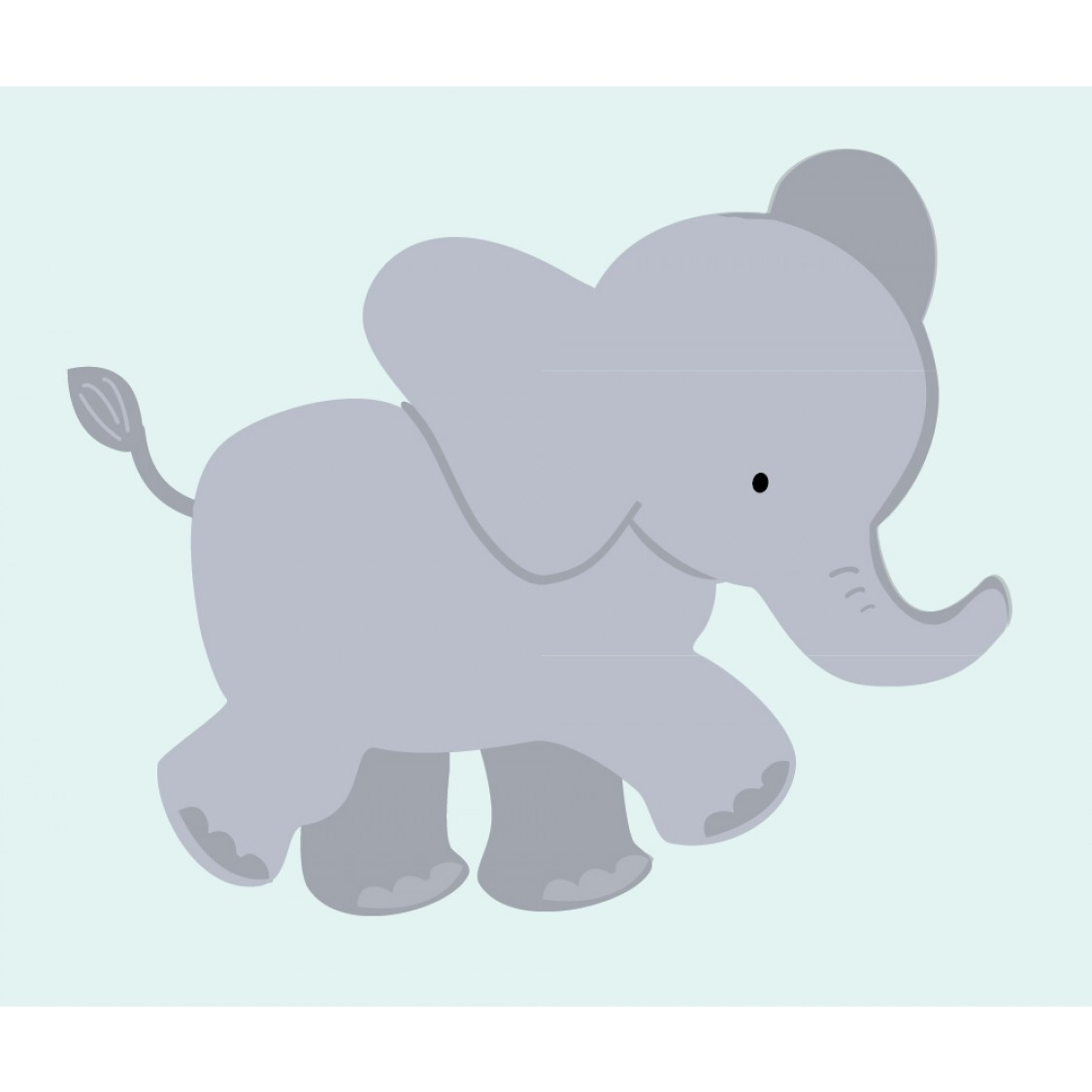 Customizable Elephant Wall Mural For Children