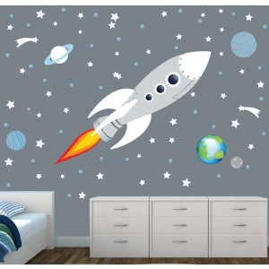 Space Wall Murals For Nursery Or Baby Room