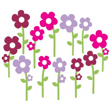 Custom Floral Wall Decals For Nursery Or Baby Room