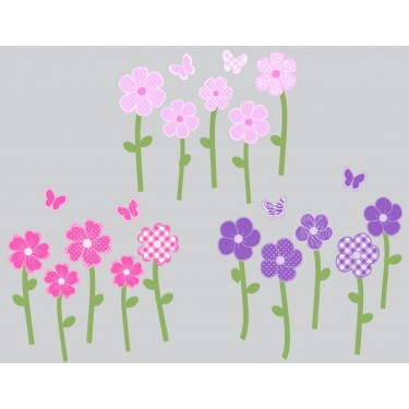 Custom Floral Wall Decals For Girls Bedrooms