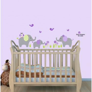 Jungle Wall Decals For Nursery With Elephant Wall Decal For Nursery or Baby Room