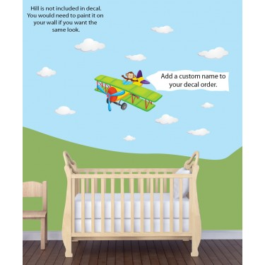 Kids Removable Wall Decals With Airplane Wall Murals For Kids Rooms
