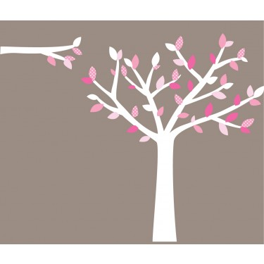 Baby Pink Wall Stickers Tree For Children