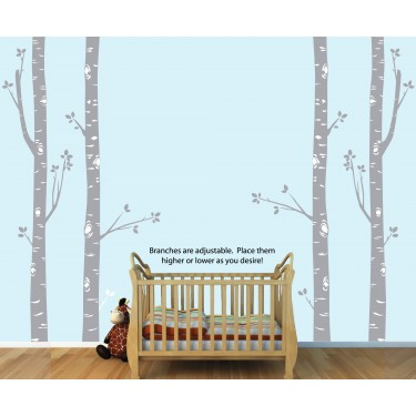 sc 1 st  Nursery Decals and More & Birch Tree Wall Stickers and Tree Decals Wall Stickers For Boys