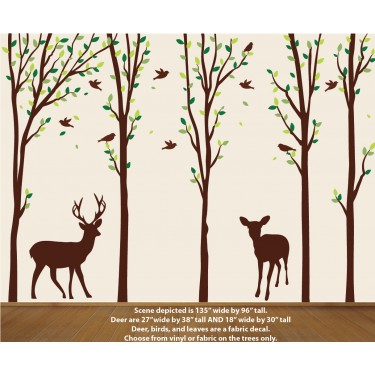 Deer Decal in Forest
