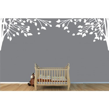 Double Corner Branch Tree Decal For Children