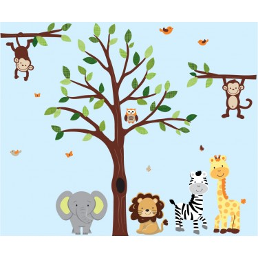 Green Wall Decals Trees With Jungle Nursery Wall Decals For Boys Bedrooms